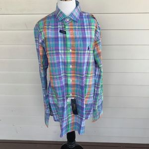 Polo Ralph Lauren Stretch Cotton Dress Shirt Sz L